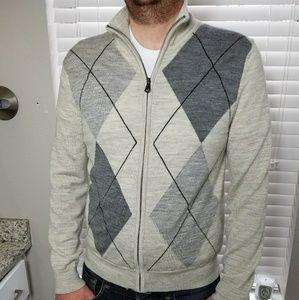 Full Zip Express Merino Wool Argile Sweater